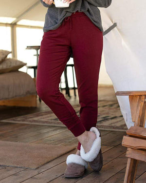 Ultra-Soft Fleece Sweats - Red Wine / XS