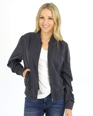 (**sale**) Washed Tencel Bomber Jacket