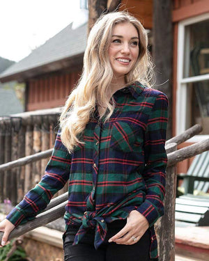 Stretch-Flex Flannel Plaid Dress -