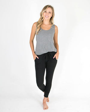 Summer Weight Cropped Live-In Loungers - Black / XS