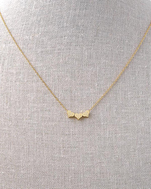 (**new item**) Heart Trio Necklace