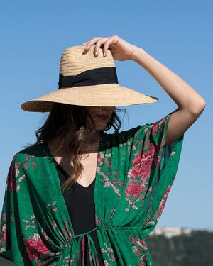 Ultra Wide Brim Straw Hat - Natural / One Size