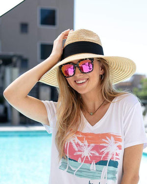 Ultra Wide Brim Straw Hat - Natural / One Size (Will Ship Mid June)