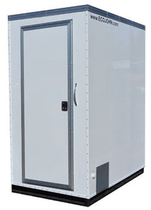 Single Portable Restroom with Waterless Composting / Incinerating Toilet
