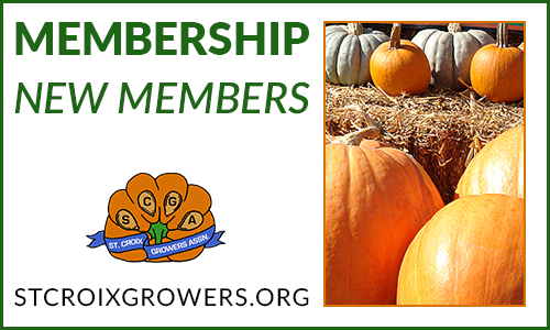 Membership: New Members to the St. Croix Pumpkin Grower's Association