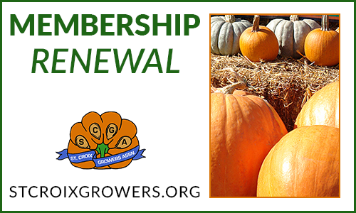 Membership Renewal: St. Croix Pumpkin Grower's Association