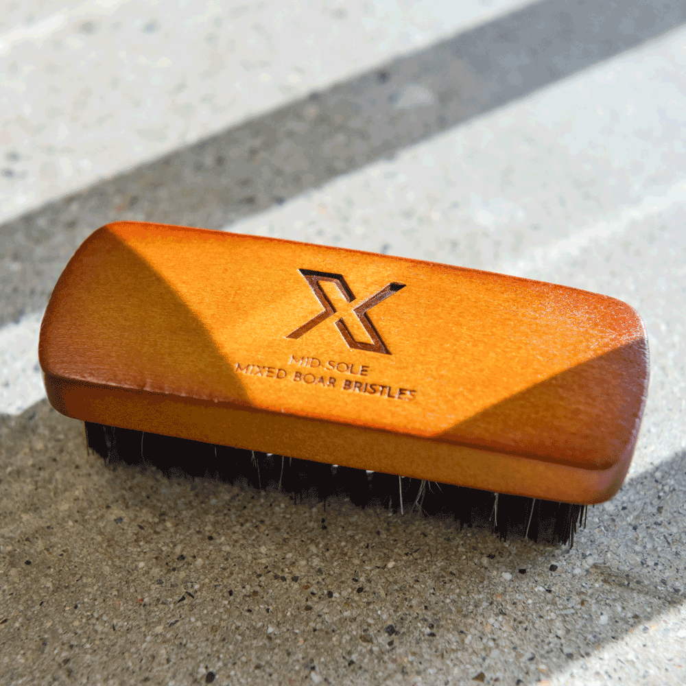X Midsole Sneaker Brush, Boar-Mix Bristles