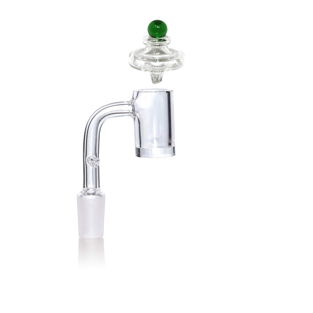 14mm Male Quartz E-Banger for 20mm Coil With Saucer Cap