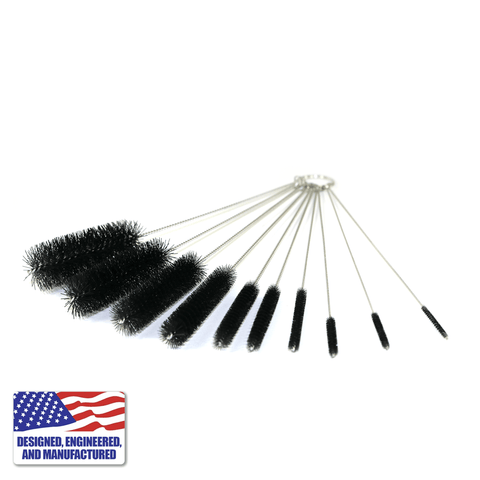Multiple Brush Cleaning Kit for Glass Pipe Bubblers and Titanium Tools