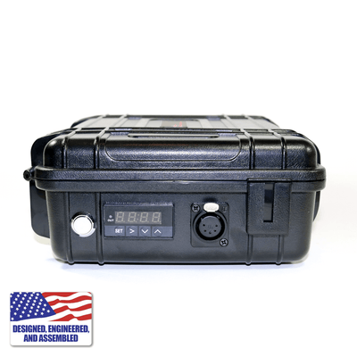Portable Enail Case in Black - Side B PID Controller View