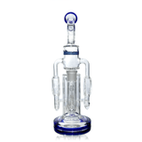 Glass Bubbler Hitman - Double Percolator - Rear View