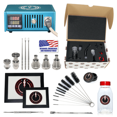 The Complete TDS Dabbing Enail Kit - Deluxe Version - Blue View
