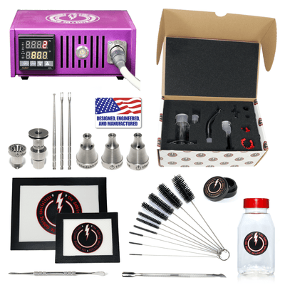 The Complete TDS Dabbing Enail Kit - Deluxe Version - Purple View