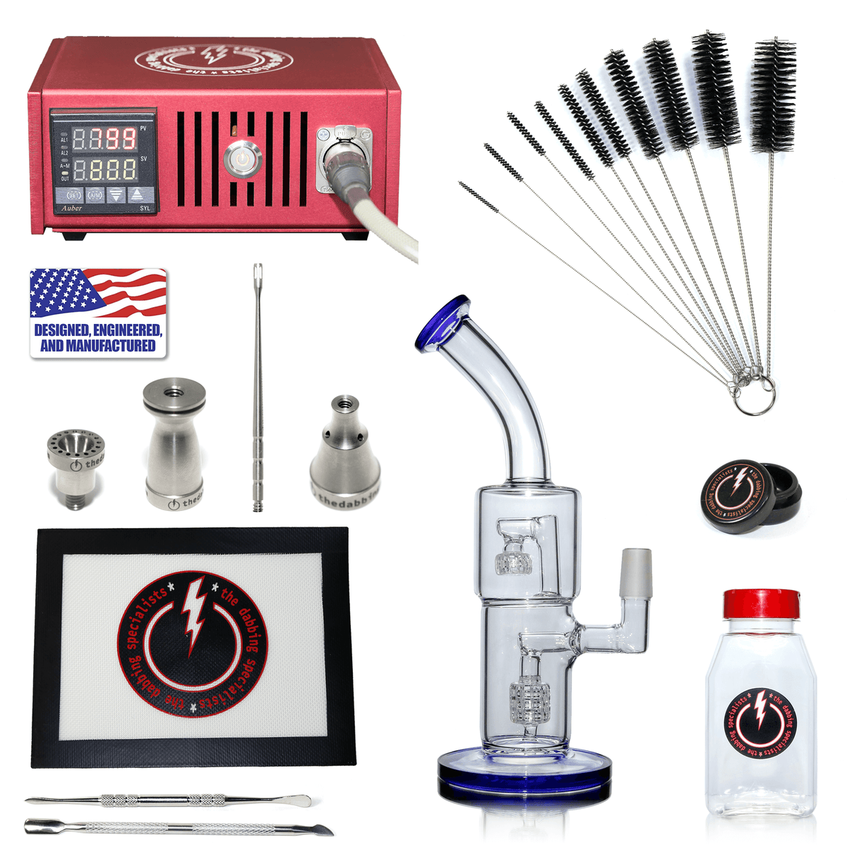 The Complete TDS Dabbing Enail Kit - Economy Version in Red