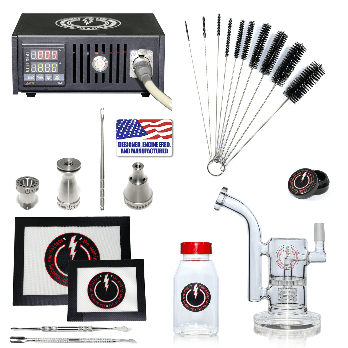 The Complete TDS Dabbing Enail Kit - Intermediate Version in Black
