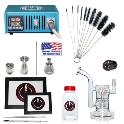 The Complete TDS Dabbing Enail Kit - Intermediate Version in Blue