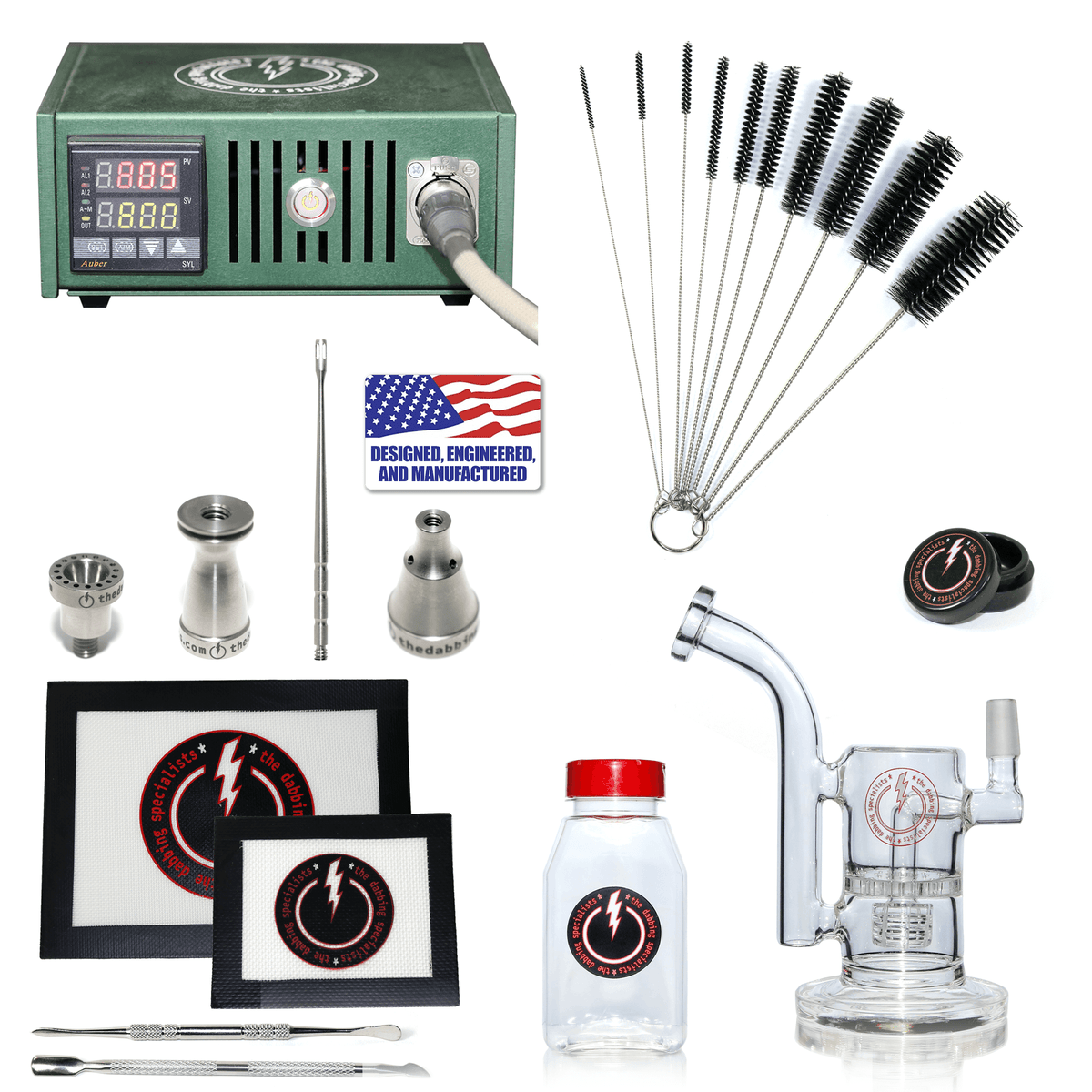 The Complete TDS Dabbing Enail Kit - Intermediate Version in Green