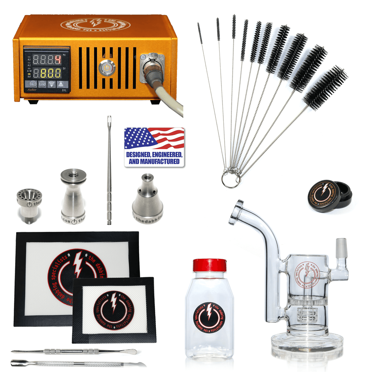 The Complete TDS Dabbing Enail Kit - Intermediate Version in Orange