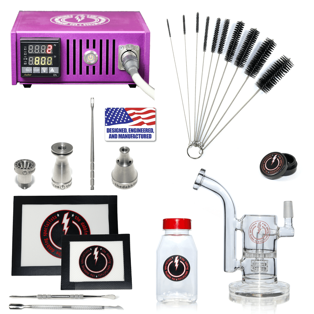 The Complete TDS Dabbing Enail Kit - Intermediate Version in Purple