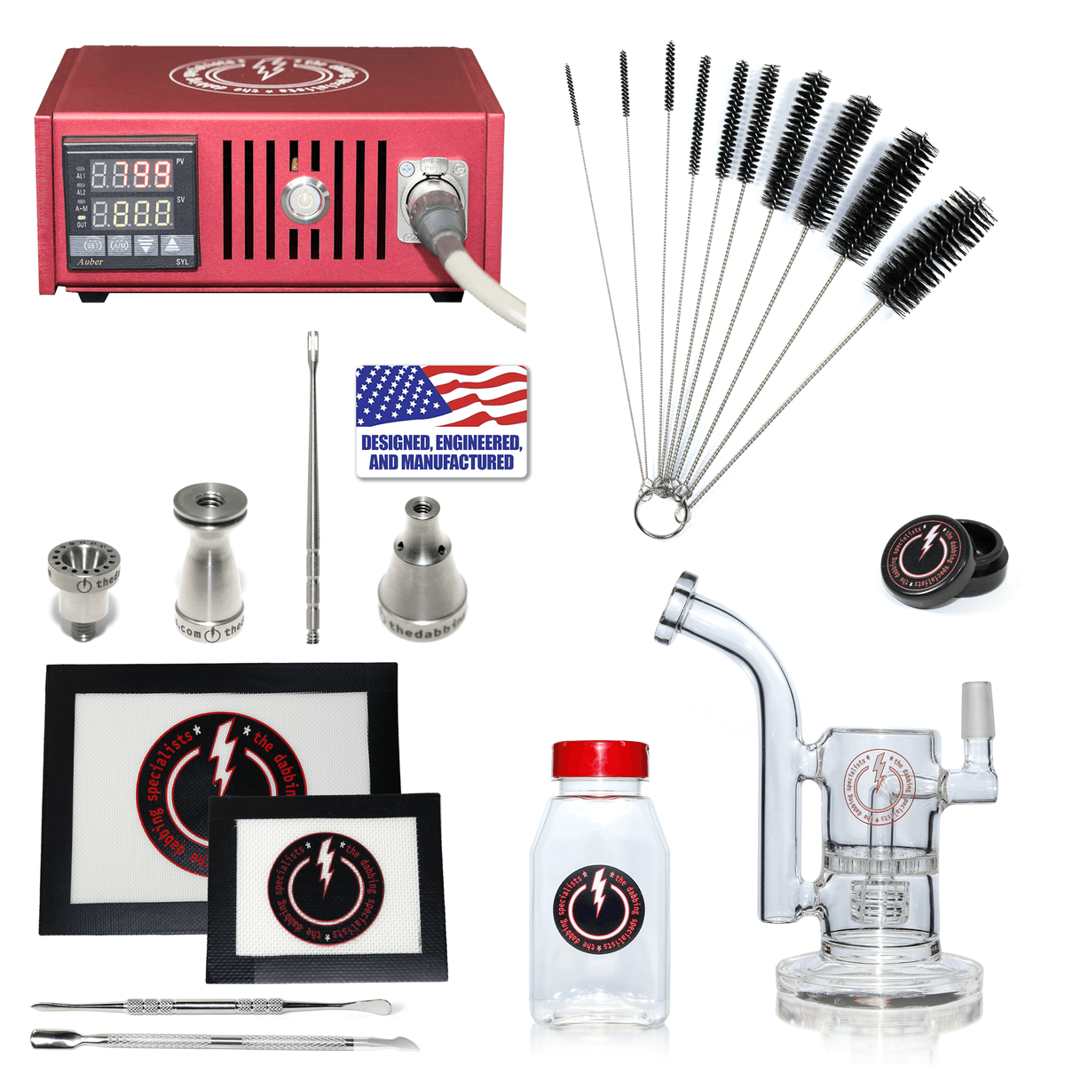 The Complete TDS Dabbing Enail Kit - Intermediate Version in Red