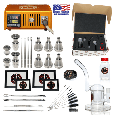 Complete TDS Dabbing Enail Kit - Ultimate - Orange
