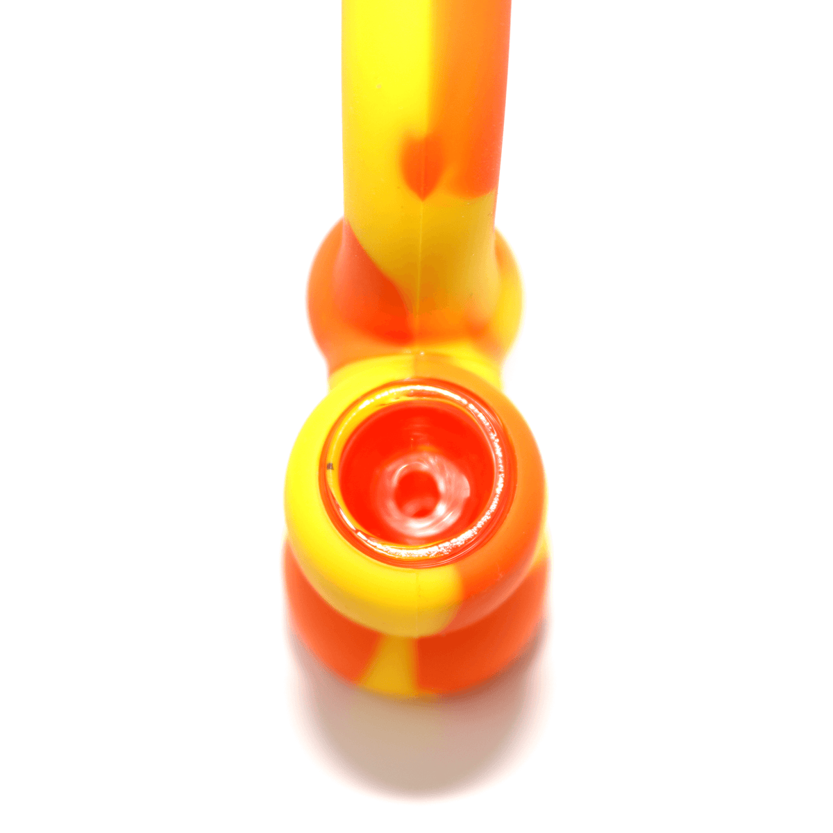 Mini Silicone Bubbler - Yellow-Orange-Close-Up