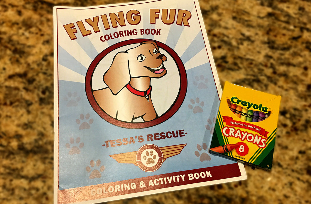 Flying Fur Coloring Book