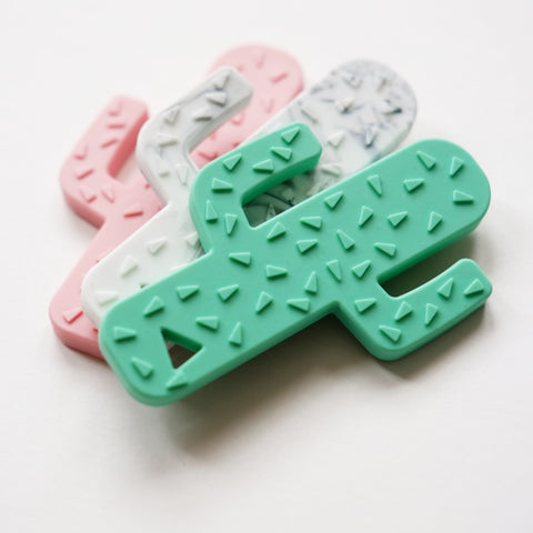 Blossom & Bear Silicone Cactus Teether - Green