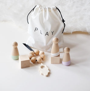 Blossom & Bear Wooden Sensory Play Bag