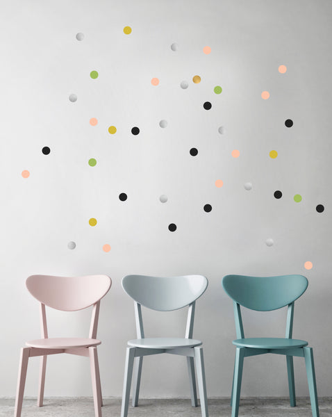 POM Wall Stickers - Dots (Multicolour)