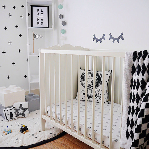 Didi + Bud Fitted Cot Bed Sheet - Penny Farthing