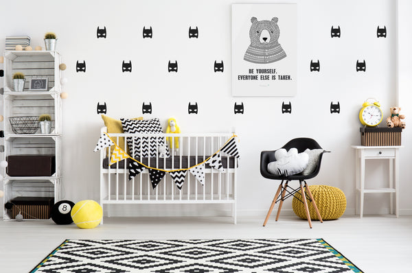 POM Wall Stickers - Superheroes (Black)