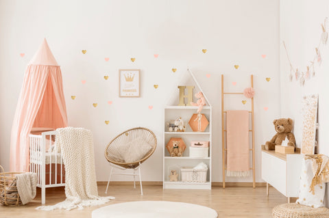 POM Wall Stickers - Hearts (Rose & Gold)