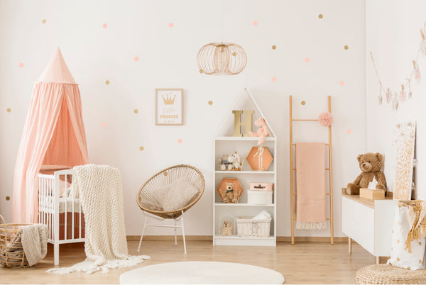 POM Wall Stickers - Dots (Rose & Gold)