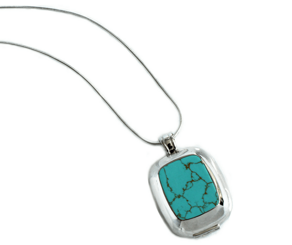 Revolar Instinct necklace case in turquoise
