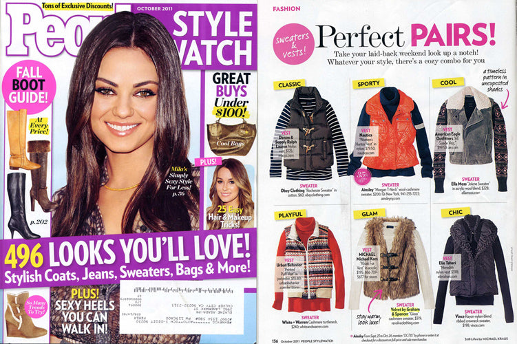 VELVET STYLE GIORA IN OCTOBER 2011 ISSUE OF PEOPLE STYLEWATCH