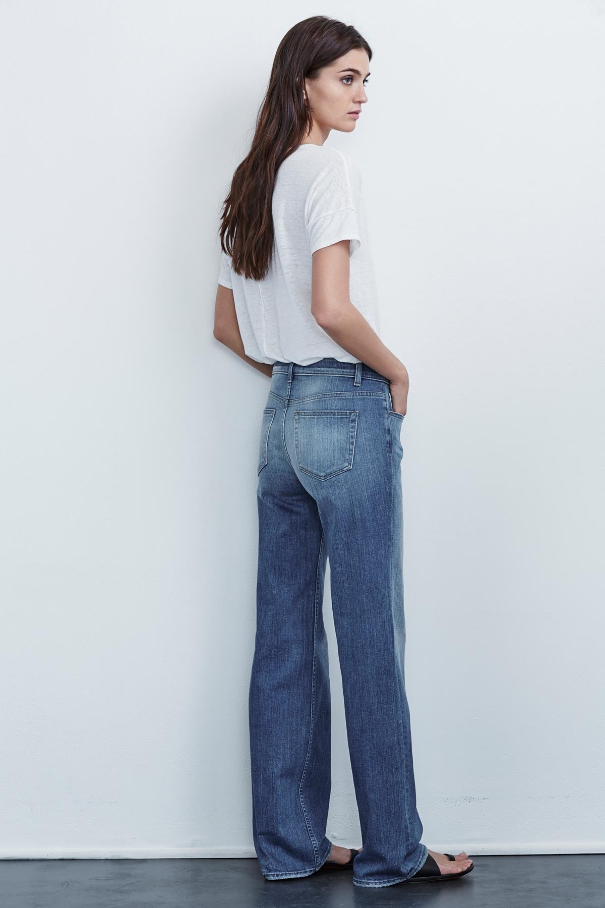 CARA HIGH RISE WIDE LEG JEAN