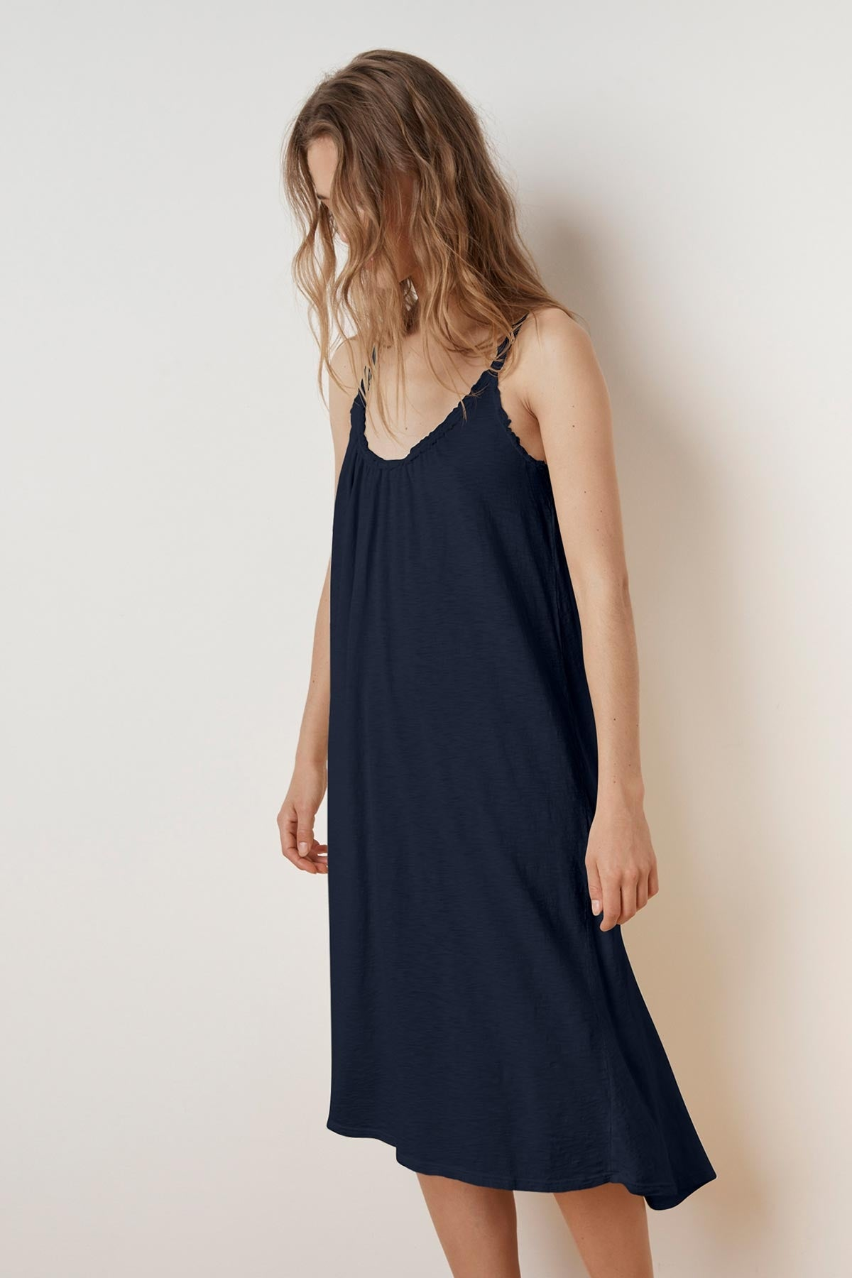 BURCA COTTON SLUB TIE BACK DRESS