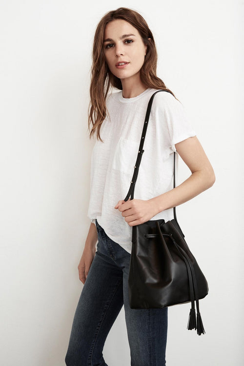 VICTORY LEATHER BUCKET BAG