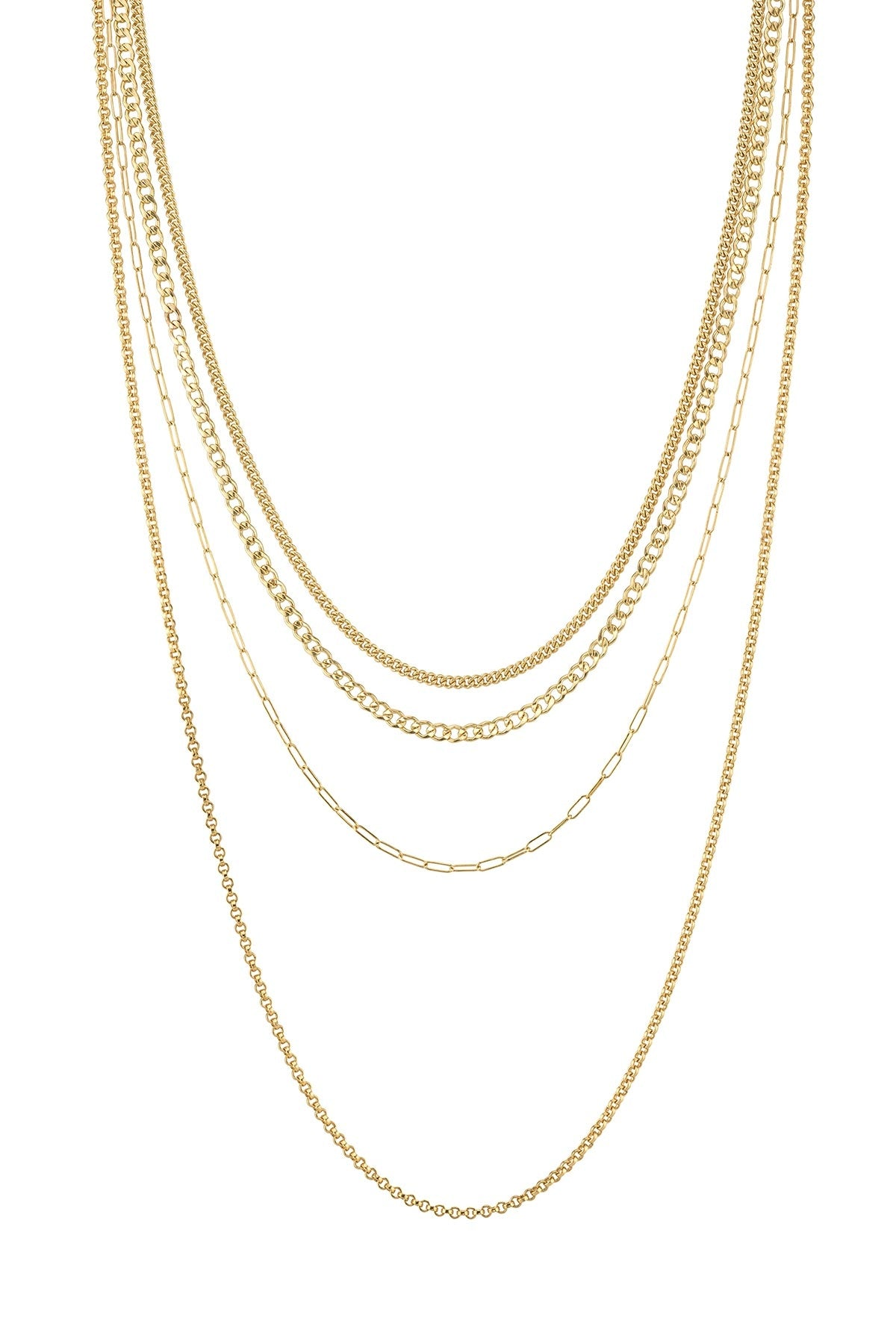 MULTI LAYER CHAIN IN GOLD BY SLOAN