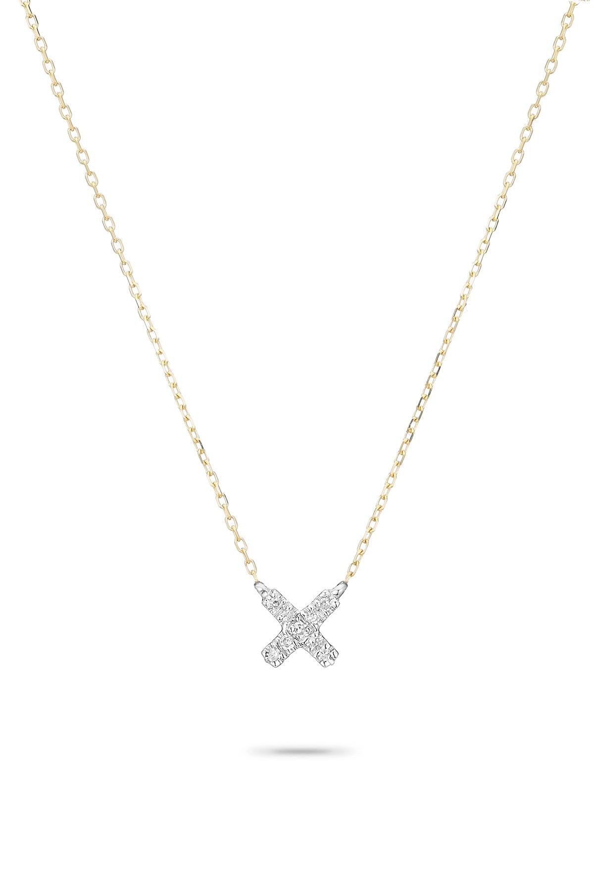 SUPER TINY PAVÉ X NECKLACE by ADINA REYTER
