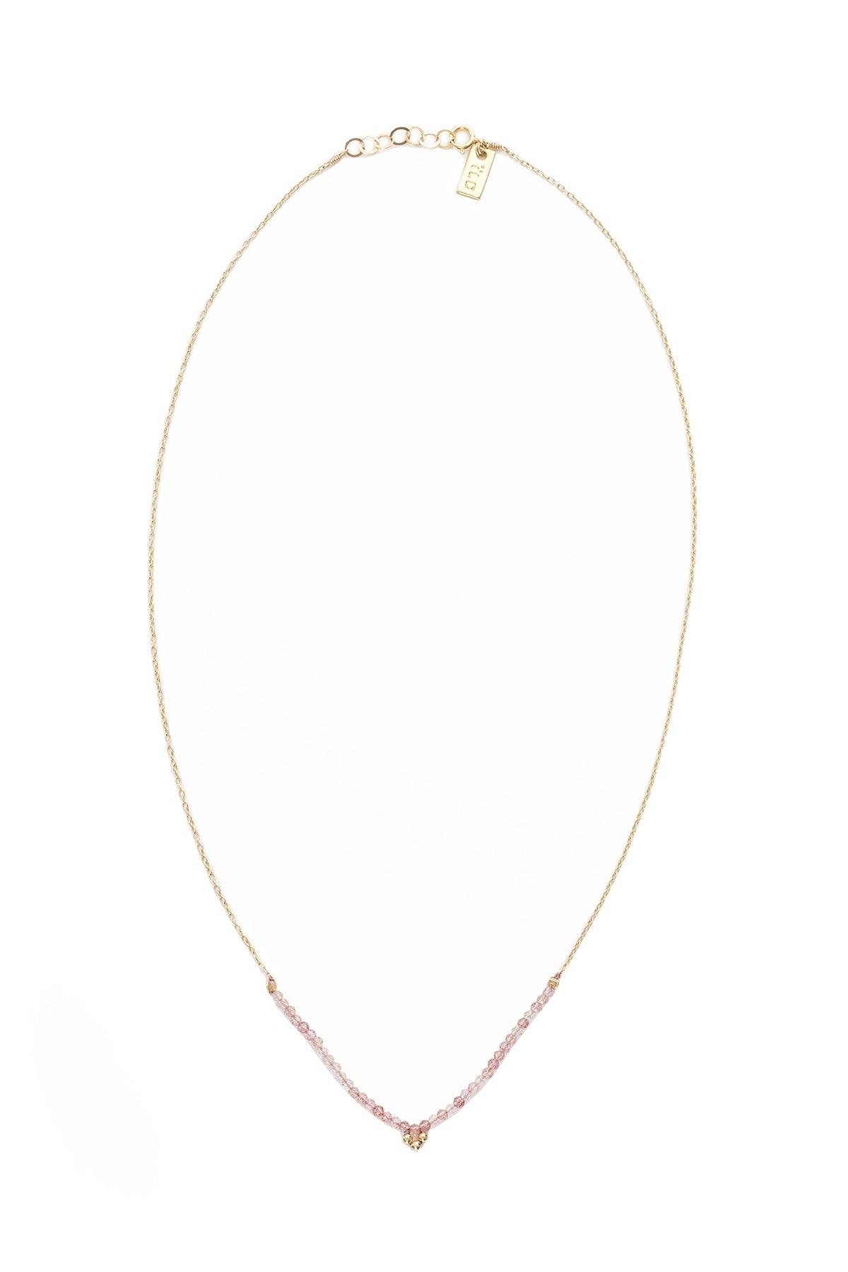 DRIFT FLOWER STRAWBERRY QUARTZ NECKLACE BY ILD