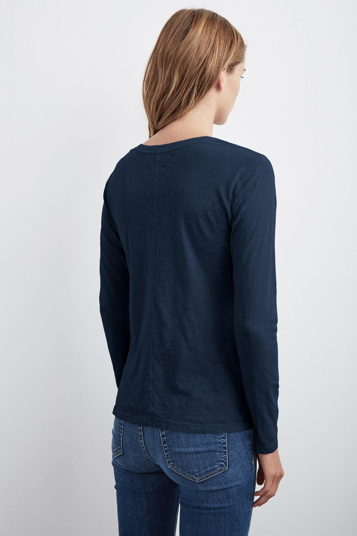KILIA COTTON SLUB ROUND NECK TEE