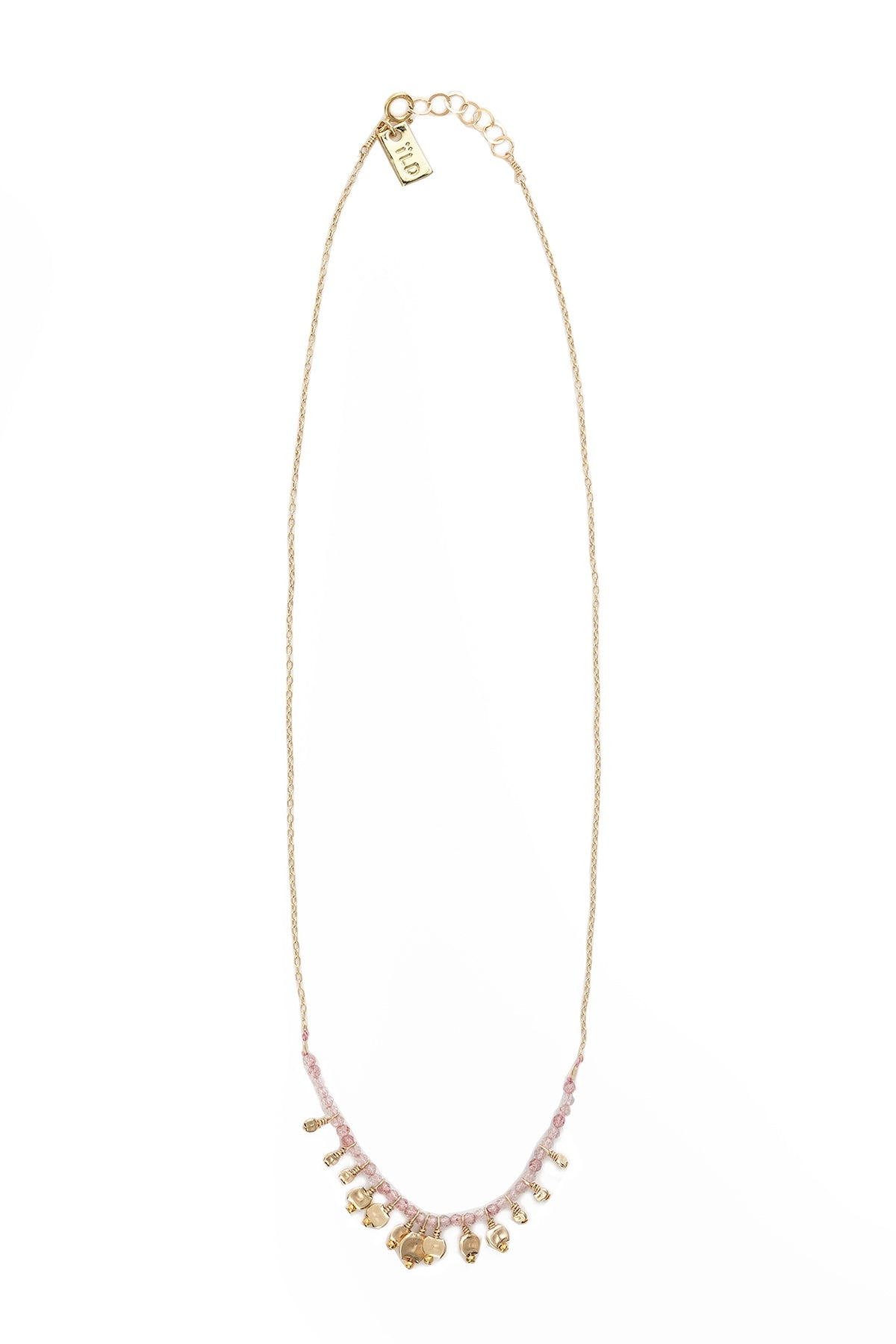 DRIFT CLUSTER STRAWBERRY QUARTZ NECKLACE BY ILD