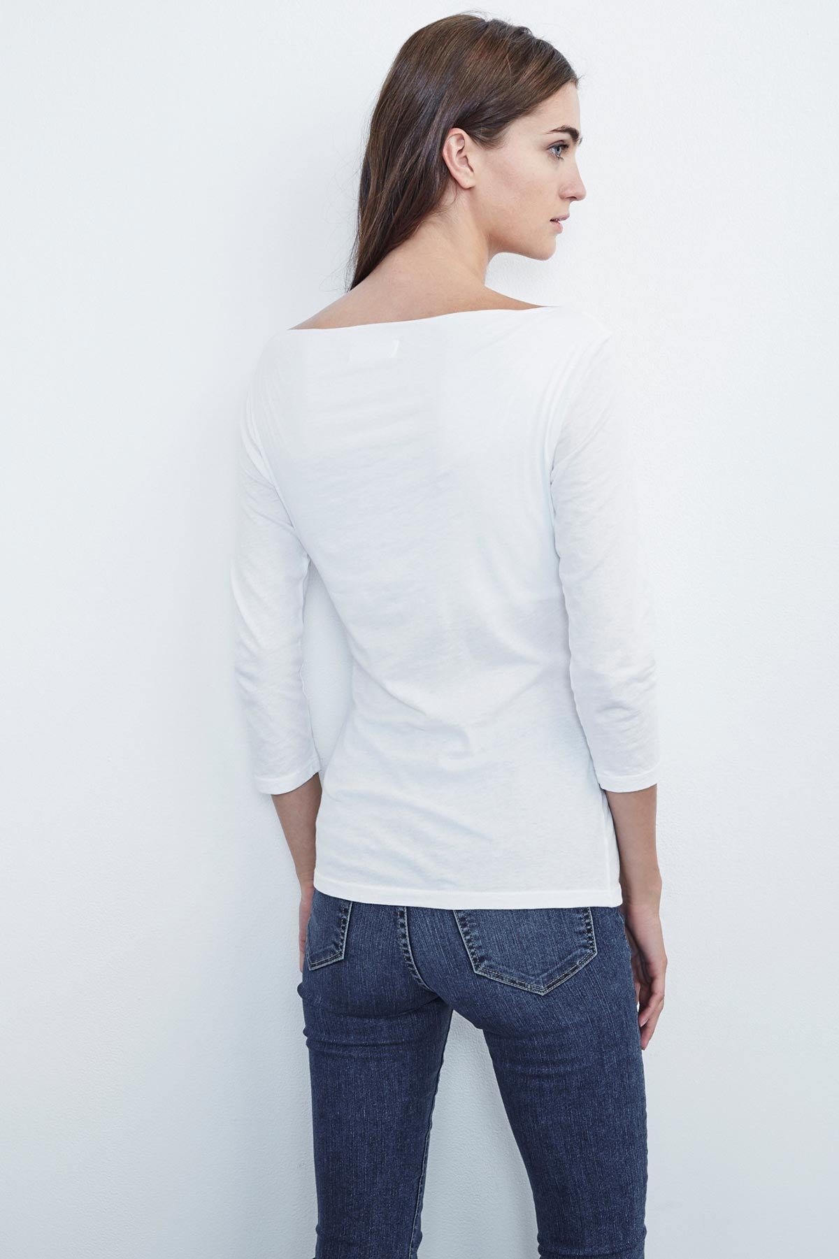 AILEEN BOAT NECK FITTED TOP