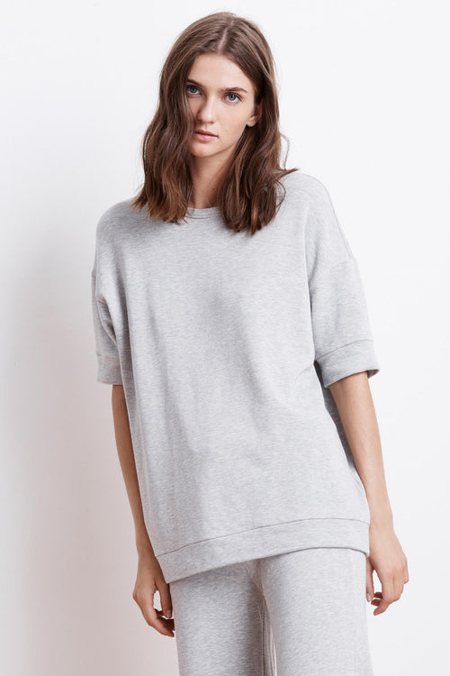 ALEDA LUXE FLEECE CREW NECK TOP