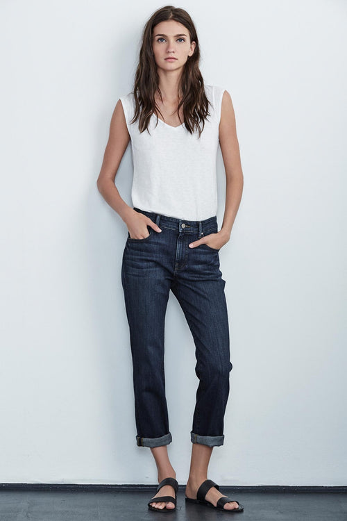 CHRISTY HIGH RISE BOYFRIEND JEAN IN INK