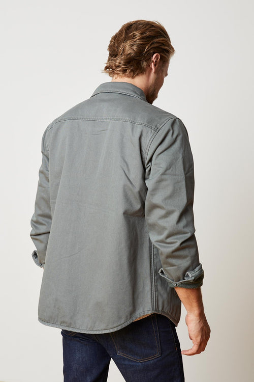 STEVAN POPLIN LINED BUTTON JACKET