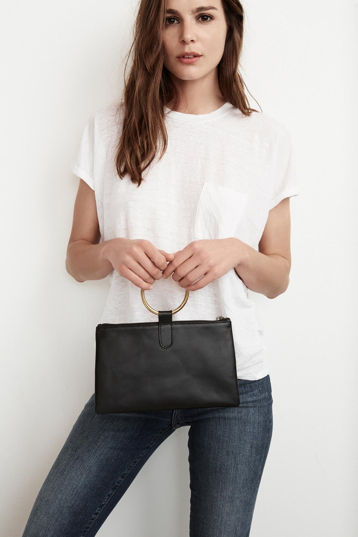 CAMELIA LEATHER CLUTCH