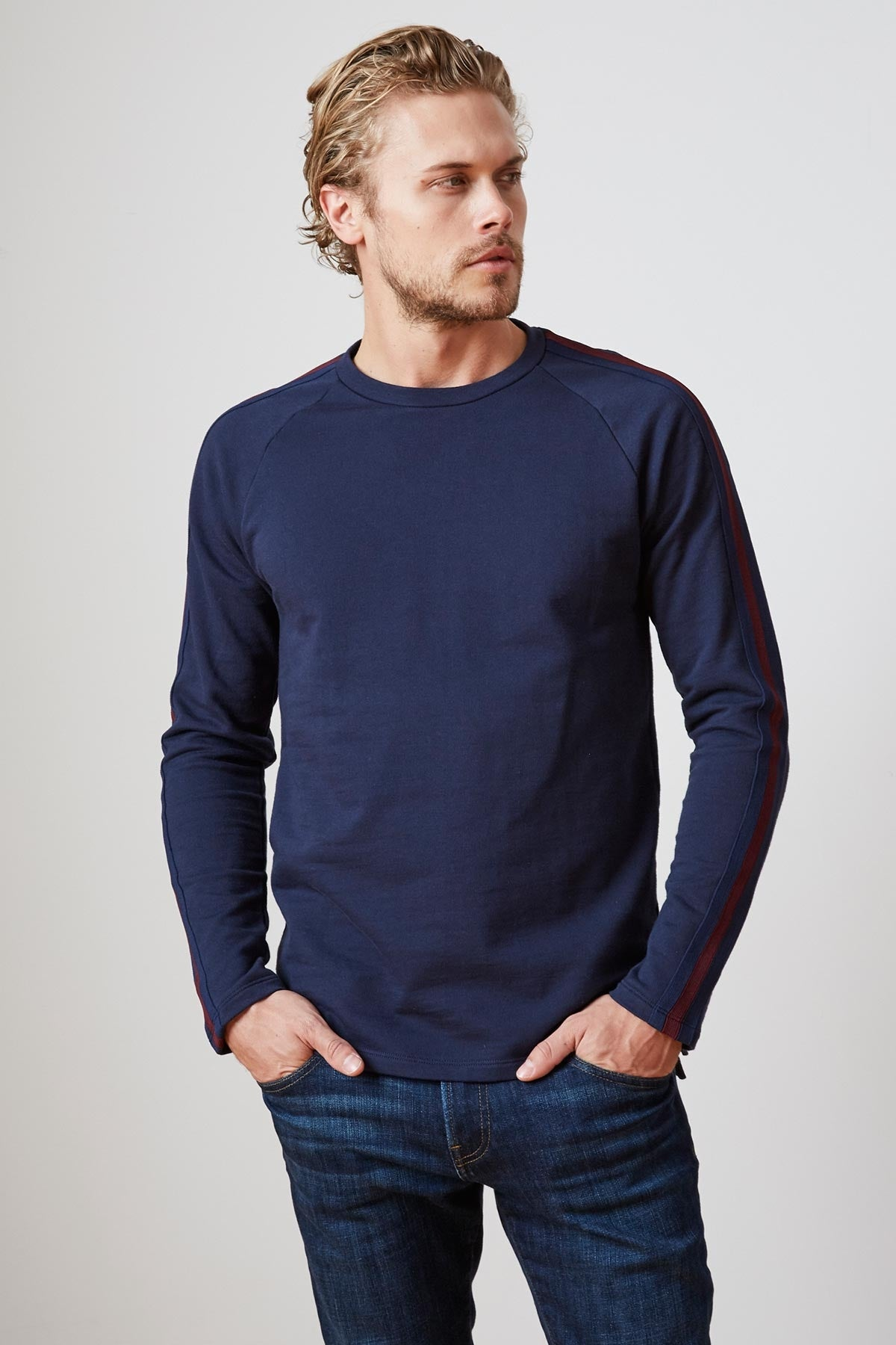 TREY FRENCH TERRY CREW NECK SWEATSHIRT